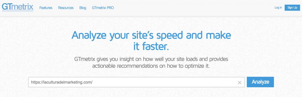 WPO, medir velocidad web