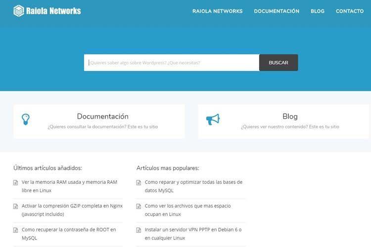 ejemplo usabilidad web, documentación