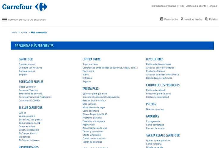 ejemplo usabilidad web Carrefour