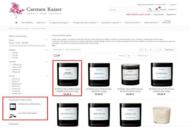 ejemplo usabilidad web en ecommerce
